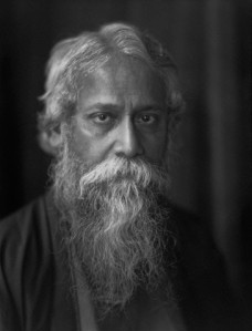1920 --- A portrait of Rabindranath Tagore, the Bengali poet and philosopher. --- Image by © E.O. Hoppé/CORBIS