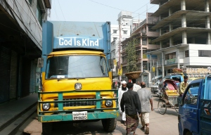 1. A truck in Old Dhaka
